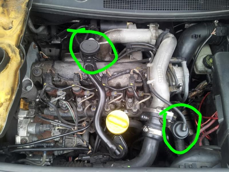 Does anyone know PCV valve location on a Megane 2 2005 1 9dci
